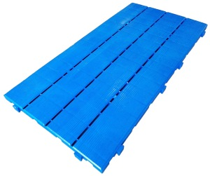 Loseta de plastico azul