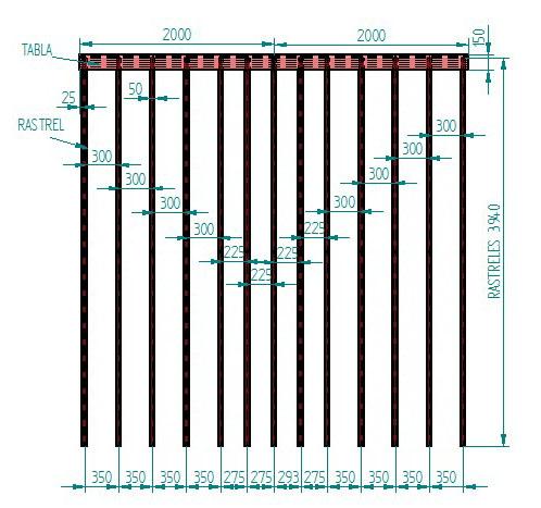 Plano de ejemplo entarimado de composite