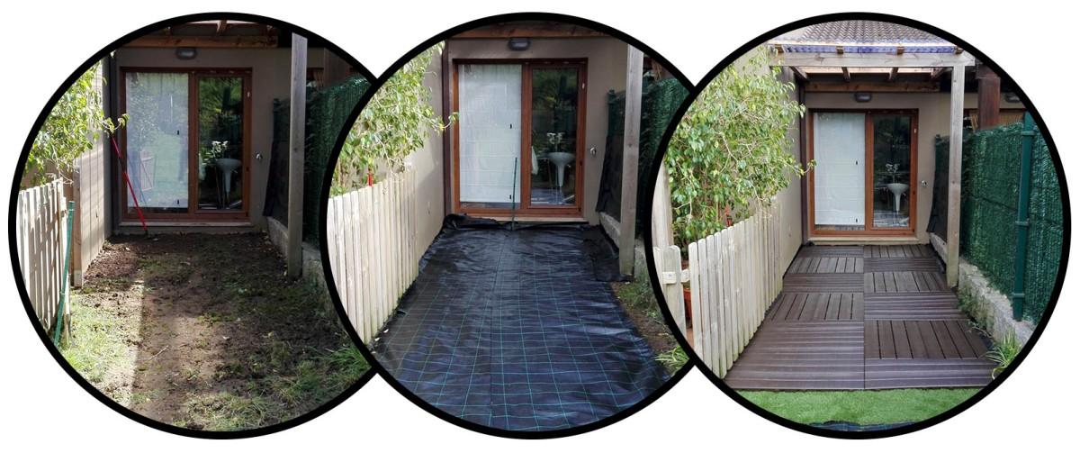 Suelos para jardin sin hacer obras suelos de pl stico for Nivelar suelo terraza sin obra
